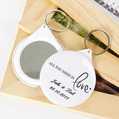 """Personlig """"Allt du behöver är kärlek"""" Plast Nyckelringar/Compact Mirror (Sats om 5)"""