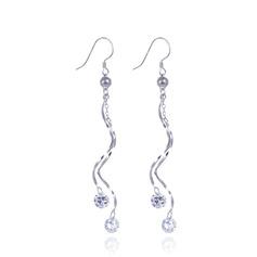 Sonar Naisten Kipinöintiä 925 sterlinghopea hopea jossa Diamond Kuutiometriä zirkonia Korvakoruja Ystävät/Morsiusneito