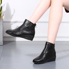 Vrouwen Kunstleer Laarzen Character Shoes Dance Boots Dansschoenen