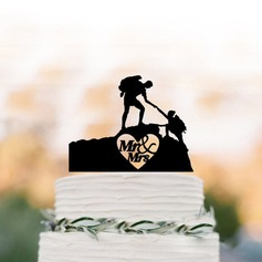 Mr. & Mrs. Acrylic/Wood Cake Topper