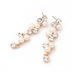 Pretty Alloy/Pearl With Rhinestone Ladies' Earrings