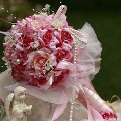 Charme Redondo Cetim Buquês de Noiva