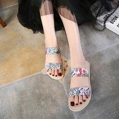 Kvinnor Konstläder Flat Heel Platta Skor / Fritidsskor Tofflor med Rufsar skor