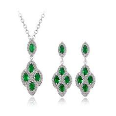 Lindo Zircon/Platinadas Senhoras Conjuntos de jóias