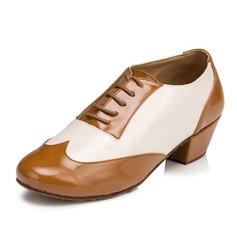 Mulheres Couro Saltos Sandálias Latino Salão de Baile Treino sapatos de personagem Sapatos de dança