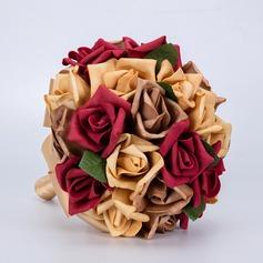 Yksinkertainen ja tyylikäs Vapaamuotoinen Vaahto Morsiamen kukkakimppuihin -
