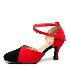 Women's Suede Heels Ballroom Dance Shoes