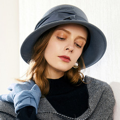 Ladies' Glamourous/Elegant/Pretty Wool With Rhinestone Bowler/Cloche Hats