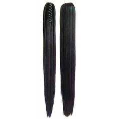Tout droit cheveux synthétiques Queues de cheval (Vendu en une seule pièce) 150g