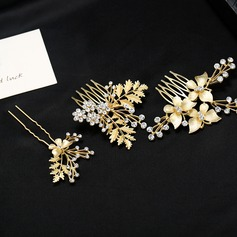 Fashion Alloy Hairpins/Combs & Barrettes (Set of 3)