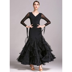 Women's Dancewear Rayon Performance Ballroom Dresses