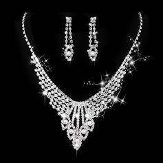 Vackra Och Legering/koppar med Strass/Fauxen Pärla Damer' Smycken Sets