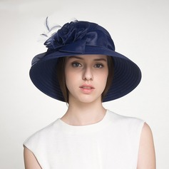 Señoras' Hermoso/Glamorosa poliéster con Flor Disquete Sombrero/Sombreros Playa / Sol