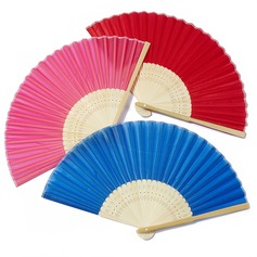 Tyylikäs Bambu/Silkki Käsi tuuletin