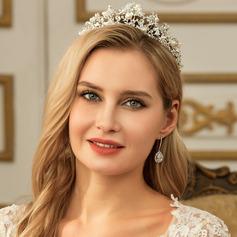 Damen Elegant Strass/Legierung/Faux-Perlen Tiaras mit Strass/Venezianischen Perle