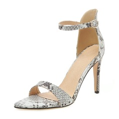 Vrouwen Patent Leather Stiletto Heel Sandalen Pumps Peep Toe met Gesp schoenen