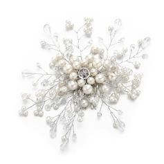 Damer Snygga Kristall/Fauxen Pärla Kammar & Barrettes med Venetianska Pärla/Kristall (Säljs i ett enda stycke)