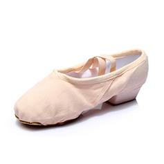 Kvinnor Nubuck Klackar Ballet Dansskor