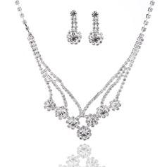 Elegante Liga com Strass Senhoras Conjuntos de jóias