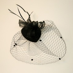 Dames Beau Feather/Fil net Chapeaux de type fascinator