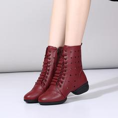 Vrouwen Kunstleer Laarzen modern Jazz Dans Sneakers Dance Boots Dansschoenen