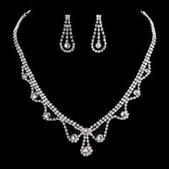 Charme Liga/Strass Mulheres/Senhoras Conjuntos de jóias