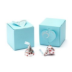 Heart style Cubic Favor Boxes (Set of 25)