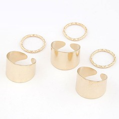 Stylish Alloy Fashion Rings (Set of 6)