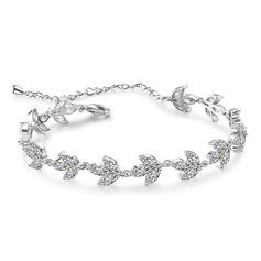 Dames élégant Cuivre/Zircon de Bracelets