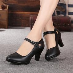Mulheres Couro verdadeiro Sandálias sapatos de personagem Sapatos de dança