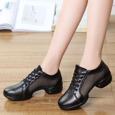 De mujer Cuero Tejido Zapatillas Zapatillas con Agujereado Zapatos de danza