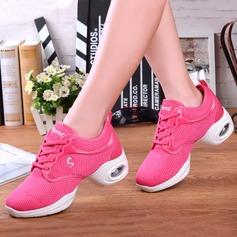 Женщины ткань Танцевальные кроссовки Танцевальные кроссовки с Шнуровка Обувь для танцев