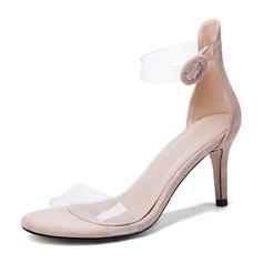 Femmes Suède Caoutchouc Talon stiletto Sandales Escarpins À bout ouvert avec Pailletes scintillantes Boucle chaussures