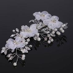 Элегантные хрусталь/Перлы ложный/шелковые цветы заколки (Продается в виде единой детали)