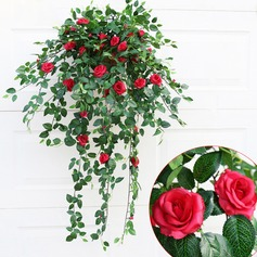 1 Branch silk Roses Wall Flower Artificial Flowers
