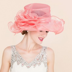 Estilo clásico Organdí con Flores de seda Disquete Sombrero