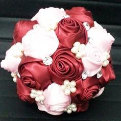 Lovely Redondo Cetim Buquês de noiva -