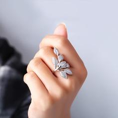 Einzigartig Zirkon Messing- mit Zirkon Frauen Mode Ringe