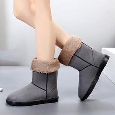 Kvinnor Mocka Flat Heel Stövlar Halva Vaden Stövlar Gummistövlar med Andra skor
