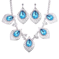 Moda Aleación Vidrio Señoras' Sistemas de la joyería