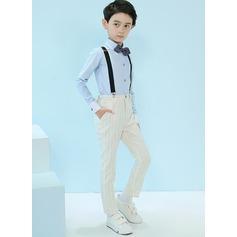 мальчиков 4 шт. элегантные Костюмы кольценосцев /Page Boy Костюмы с Рубашка Штаны петля подвязка