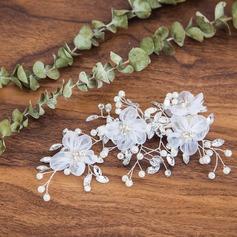 Damer Elegant Imitert Perle/Silke blomst Hårnåler