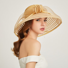 Ladies ' Classic/Enkle Papyrus med Fjer Strand / Sun Hatte/Kentucky Derby Hatte/Tea Party Hats