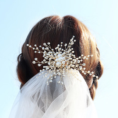 Ladies Fashion Rhinestone/Alloy/Imitation Pearls Hairpins With Rhinestone/Pearl (042220346)