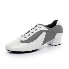 Dos homens Couro verdadeiro Saltos Bombas Treino Sapatos de dança