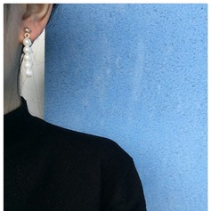 Smukke Legering Imiteret Pearl med Imiteret Pearl Ladies ' Mode øreringe