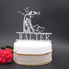 Personalized Kissing Couple Acrylic Cake Topper
