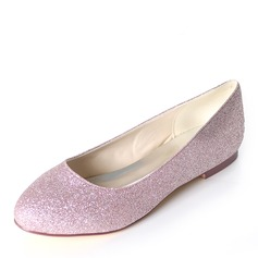 Vrouwen Sprankelende Glitter Flat Heel Flats
