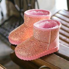 Misto scintillante Heel piatto Punta rotonda Stivali con Glitter scintillanti