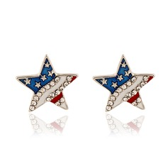 Nice Alloy Rhinestones With Rhinestone Ladies' Fashion Earrings